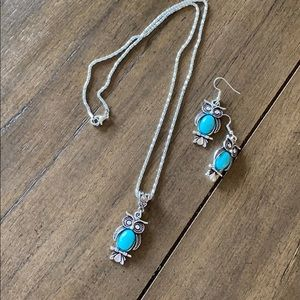 Owl 🦉 Necklace and Earring Costume Jewls Set